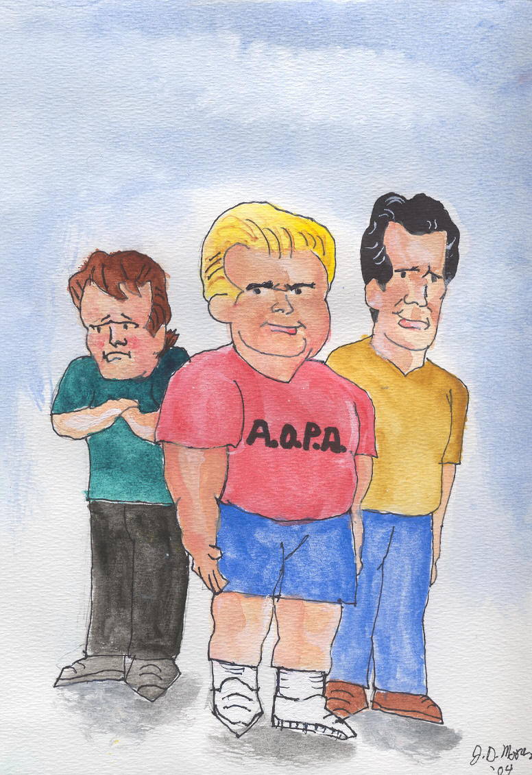 Cartoon Caricature of Characters in Short Film PILOTS' LOUNGE - See Links Page