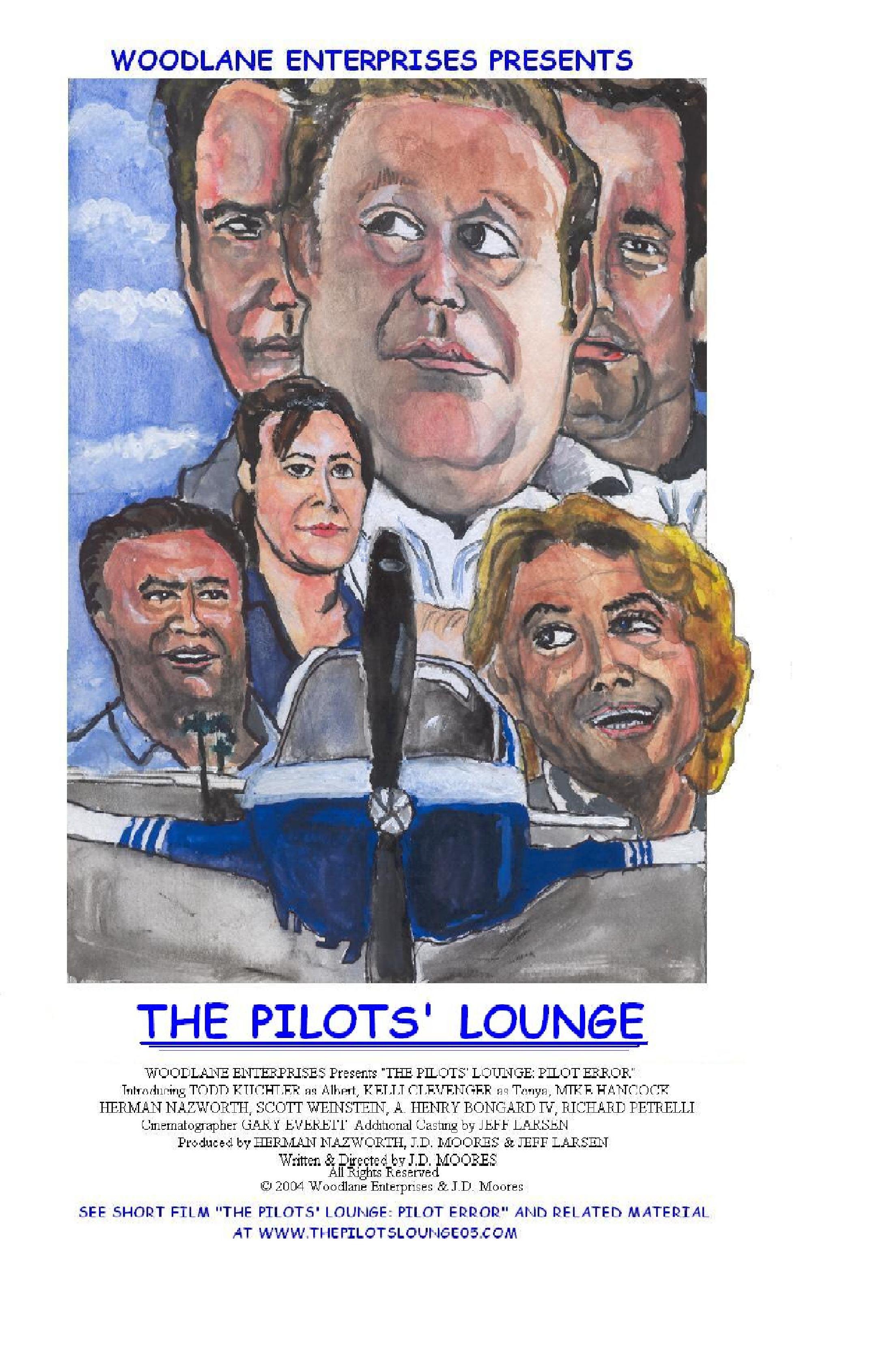 PILOTS' LOUNGE Short Film Poster - See Links Page